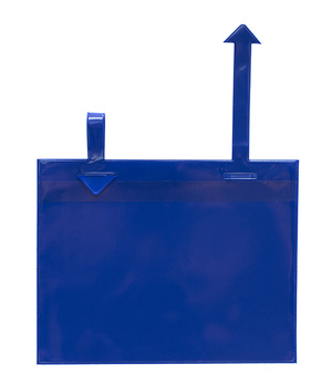 Gitterboxficka med pilar A5L i 0,30 blå pvc + 0,16 glaskl.