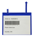 Gitterboxficka med pilar A4L i 0,30 blå pvc + 0,16 glaskl.