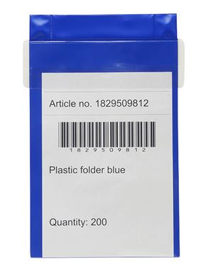 Ficka med klaff A4 blå pvc 240x350+40 mm med klaff, starka neodymmagneter upptill