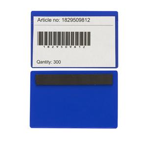 Magnetficka 120x80mm i 0,30 blå hård+0,16 glaskl. pvc