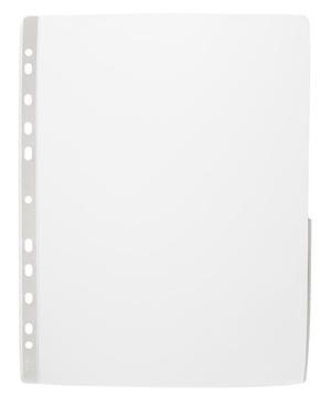 [Utgående] Ficka signal A4 bred i glaskl. 0,20 pp, vit signalkant+marginal