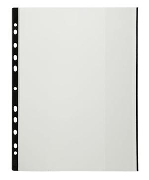 [Utgående] Ficka patent A4 glasklar 0,20 pp, svart signalkant + marginal