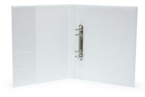 Pärm A4 Style pp vit. 40 mm rygg, 30 mm r-mek 21-70-21. Fickor sid 2 för visitkort m.m