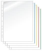 [Utgående] Ficka mapp A4 PP transp. med röd mark. 0,17
