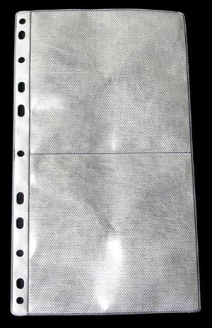 Ficka 2+2-fack CD 148x265 PP transp. / tissue. 5-pack