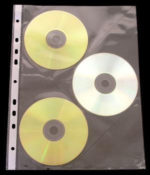 Ficka CD 3-fack A4 PP glas. 10-pack