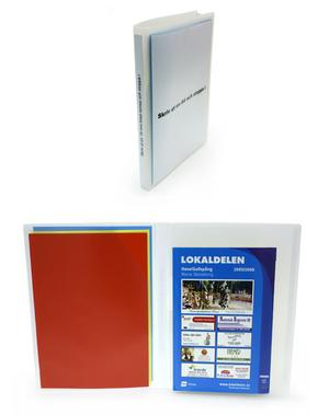 Omslagsmapp A4 i 0,70 frostad mjuk pp, ficka utsida, 3-fliksficka sida 2, nedskuren bälg sida 3