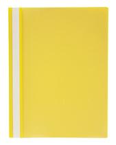 Offertmapp A4 PP enkel framsida, gul rygg+baksida, med skrivfält på rygg. Mont. mek