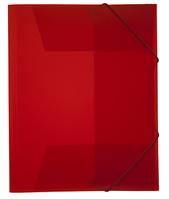 Mapp g-snodd monterade A4 pp röd bred 0,45 cristaline