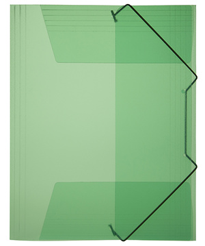 Mapp g-snodd monterade A4 pp grön bred 0,45 cristaline