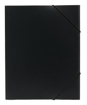 Mapp G-snodd monterade A4 PP svart bred 0,45