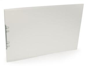 Pärm A3 liggande PP 0,70 transp. cristaline 20 mm rygg, 16mm triomek nitad i ryggen