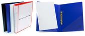 Pärm A4 0,8 blå pp, 25 mm rygg med ficka framsida + rygg, 20 mm triomek, snedficka på sida 2 & 3