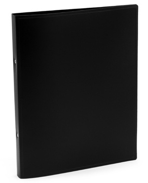 [Utgående] Pärm A4, PP svart, 20 mm med 16 mm triomek