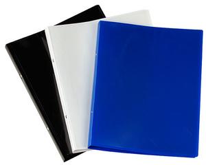 [Utgående] Pärm A4 PP svart 0,45 20 mm rygg med ficka och 16 mm triomek visitkortssnitt på sida 2