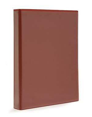Pärm A4 pp röd med ficka 40 mm rygg, 30 mm r-mek 21-70-21 plac. på sid 3