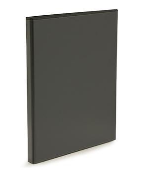 Pärm A4 pp svart med ficka 25 mm rygg, 16 mm r-mek 21-70-21 plac. på sid 3