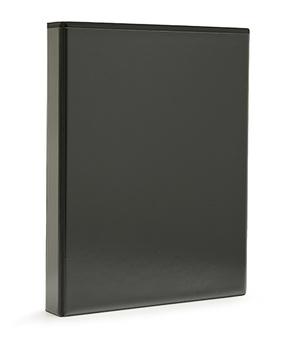 Pärm A4 pp svart med ficka 40 mm rygg, 30 mm r-mek 21-70-21 plac. på sid 3
