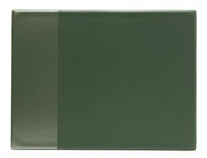 Skrivunderlägg A2 PP grön med klaff för almanacka samt skummad undersida