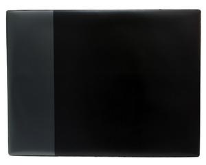 Skrivunderlägg A2 PP svart med klaff för almanacka samt skummad undersida