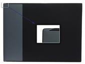Skrivunderlägg A2, svart med profilerad klaff för almanacka i mjuk PP med non-slip undersida.
