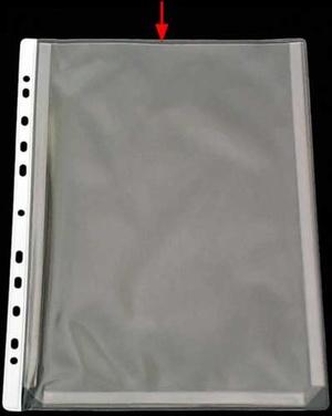Bälg ficka A4 PVC glas