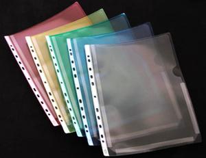 [Utgående] Bälgficka nedskuren A4 PP präglad 0,25 cristaline baksida gul. 50-pack