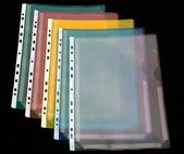 Bälg ficka nedskuren A4 PP präglad grön. 50-pack