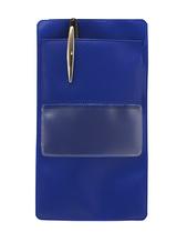 Pennficka med ficka A7 PP blå