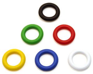 [Utgående] Fingerhål röd - passande arkivbox, tidskriftssamlare eller stansade pärmar med fingerhål