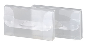 [Utgående] Visitkortsbox i 0,45 transp cristaline pp, Monterat mått 93x55x12mm. Lev. plano. 25-pack