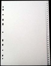 [Utgående] Register A4 PP transp. 1-31 svart pag. 0,22