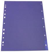[Utgående] Register A4 PP blå 1-6 vit pag. 0,22