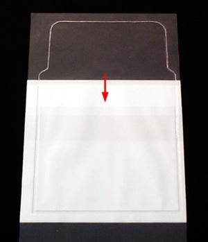 [Utgående] Självhäftande fodral CD med klaff & tissue A6 PVC glas permanent