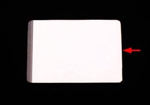 [Utgående] Lamineringsblad etikett A7 PVC glas permanent