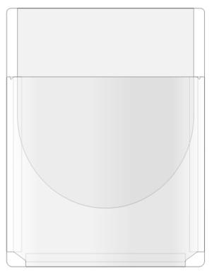 Självhäftande bälgfodral med klaff A4 PP glas permanent