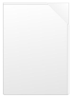 Självhäftande mapp A4 PP glas icke perm. med snedlåsning
