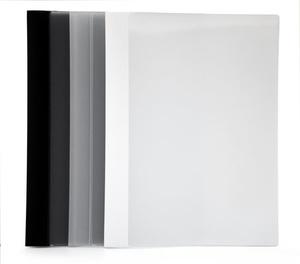 Offertmapp Style A4 PP enkel 0,35 svart baksida och rygg, frostad framsida. Mont. mek.