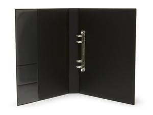Pärm A4 Style pp svart. 40 mm rygg, 30 mm r-mek 21-70-21. Fickor sid 2 för visitkort m.m