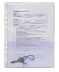 Serviceficka A4 PVC transp. 0,18, frostad ficka på framsidan.