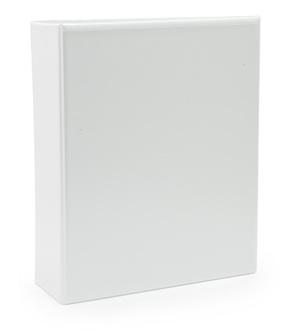 Pärm A4 pp vit med ficka 80 mm rygg, 50 mm r-mek 21-70-21